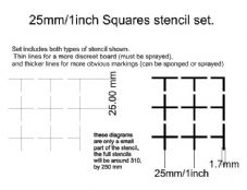 HS13 - 25mm/1 inch squares